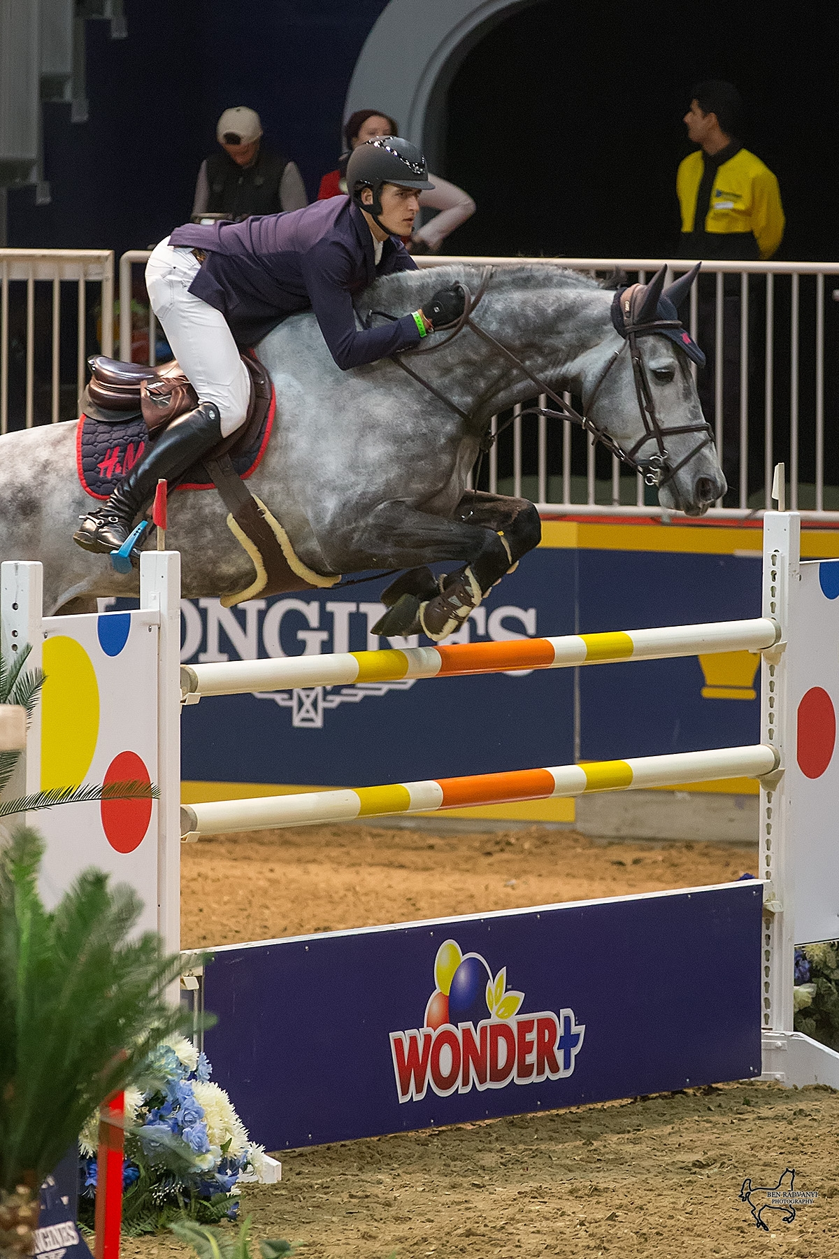 Belgium's Nicola Philippaerts claimed victory riding H&M Harley vd Bisschop in the $50,000 Weston Canadian Open held Friday night, November 13, at the Royal Horse Show®. <br><b>Photo by <a href='http://benradvanyi.photoshelter.com/#!/index/' target='_blank'>Ben Radvanyi Photography</a></b>