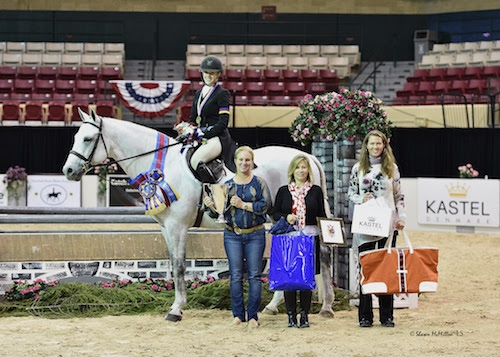 Alexis Taylor Silvernale and Citation in their presentation ceremony after winning the  $2,500 WCHR Developing Pro Challenge. <br><b>Photo by <a href='http://www.shawnmcmillen.com/' target='_blank'>Shawn McMillen Photography</a></b>