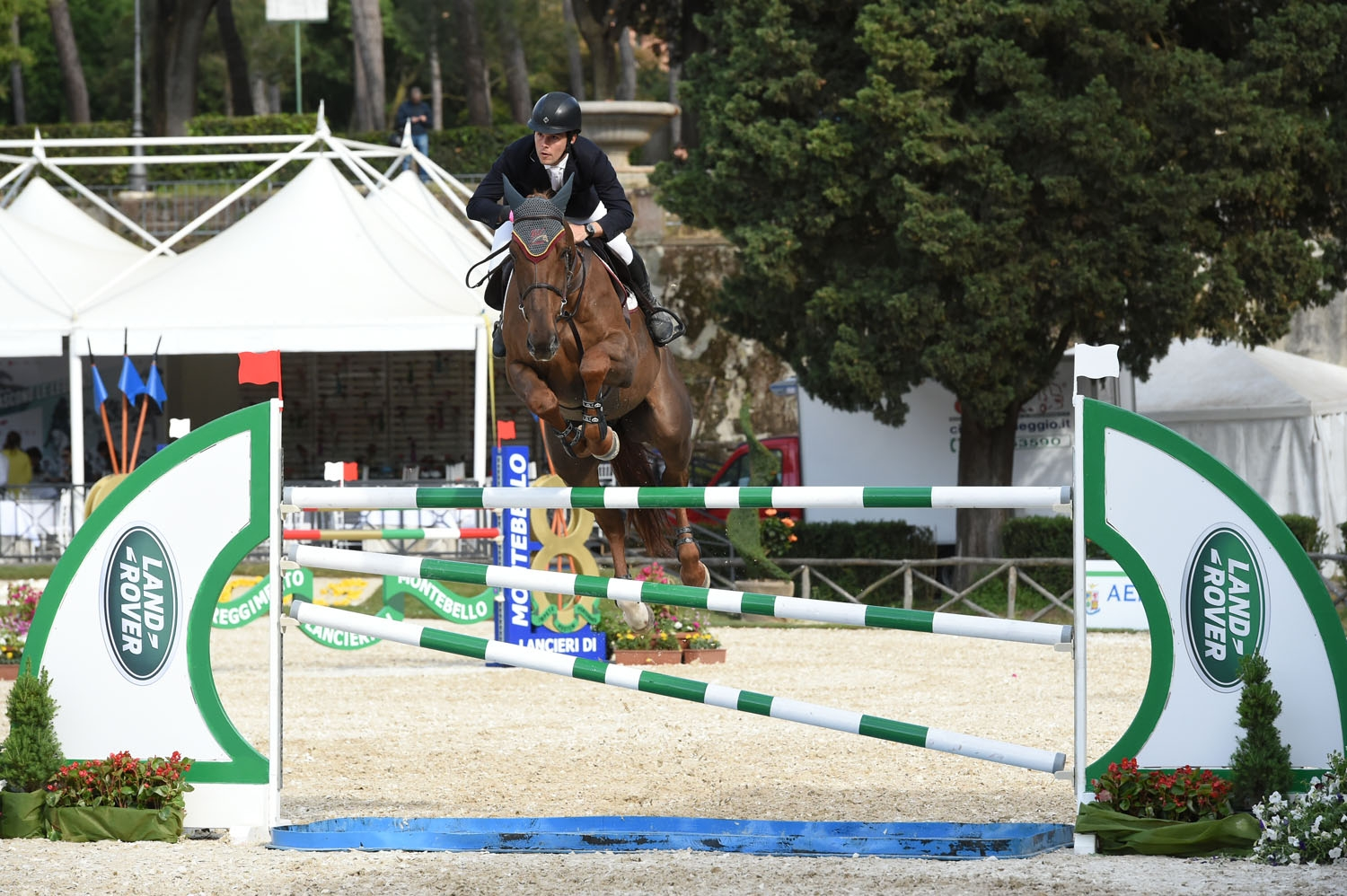 Sergio Alvarez Moya competing in Rome with G&C Quitador de Rochelais