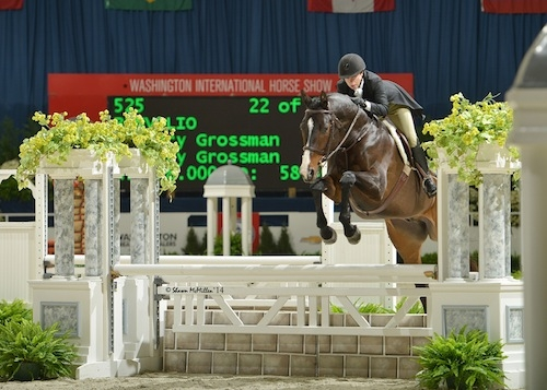 Current leader in the WIHS Hunter standings, Mary Grossman and Benvolio finished 4th in the $10,000 Adult Hunter Championship in 2014. <br><b>Photo by <a href='http://www.shawnmcmillen.com/' target='_blank'>Shawn McMillen Photography</a></b>