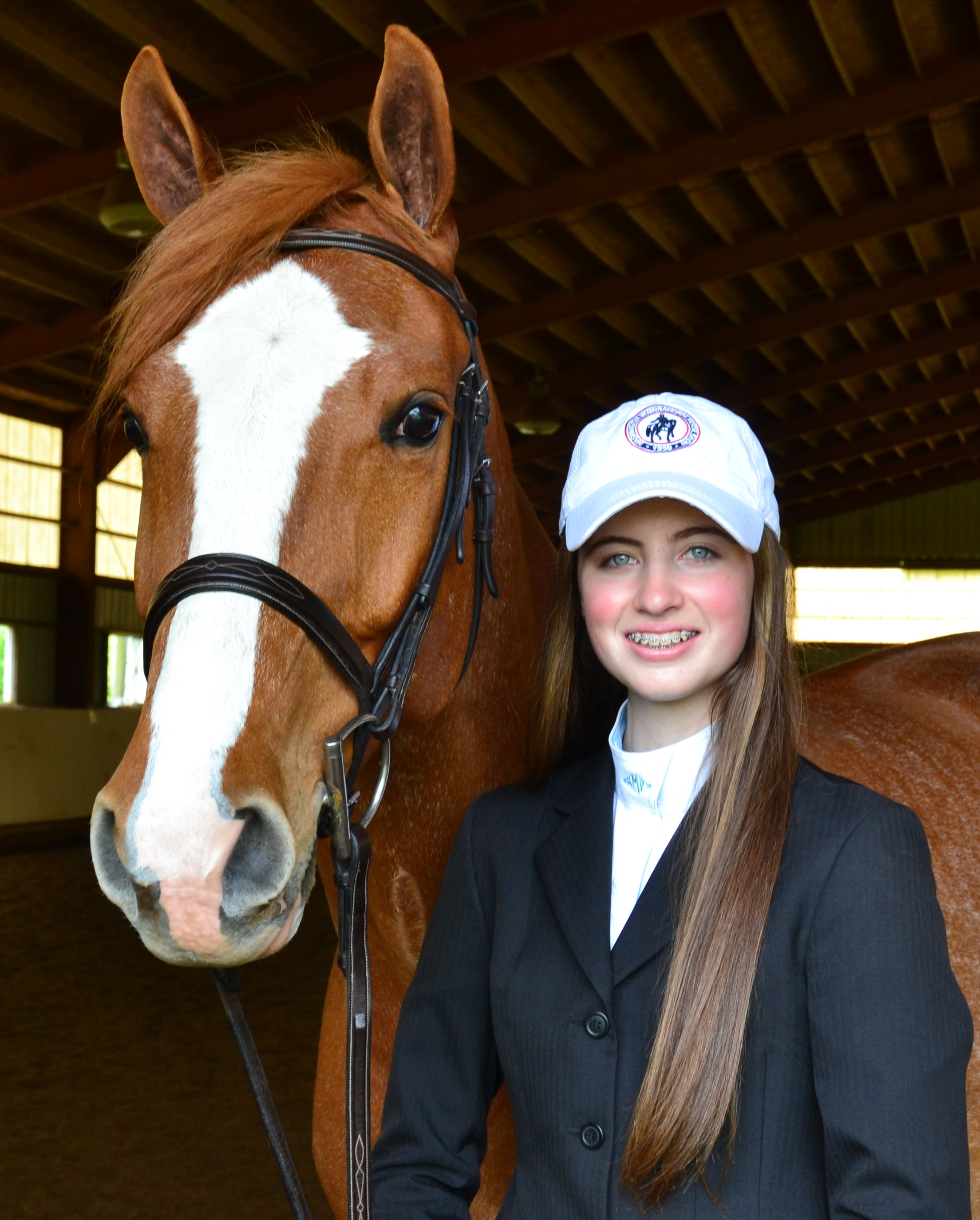 Young equestrian Katherine F. McCoy, 16, of Arlington, Va., takes up the reins as Youth Ambassador of the 2016 Washington International Horse Show. <br><b>Photo provided by WIHS</b>
