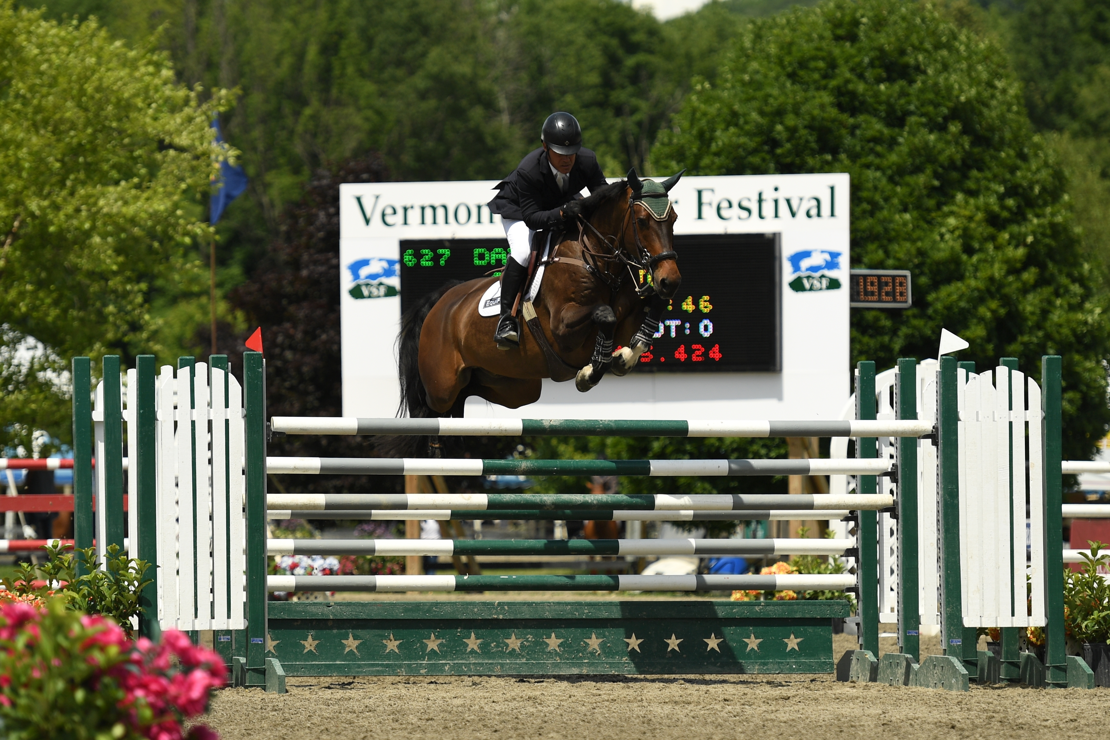 Jimmy Torano, pictured riding Day Dream, topped the $10,000 Sir Ruly, Inc. Open Jumper Awards at the 2016 Vermont Summer Festival.<br><b>Photo by <a href='http://www.andrewryback.com/' target='_blank'>Andrew Ryback Photography</a></b>