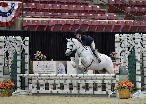 Sophie Gochman and Love Me Tender, the 2015 Grand Champion Pony Hunter honors. Capital Challenge is thrilled to welcome the Gochman Family as the returning sponsors of the $25,000 WCHR Professional Challenge. <br><b>Photo by <a href='http://www.shawnmcmillen.com' target='_blank'>Shawn McMillen Photography</a></b>