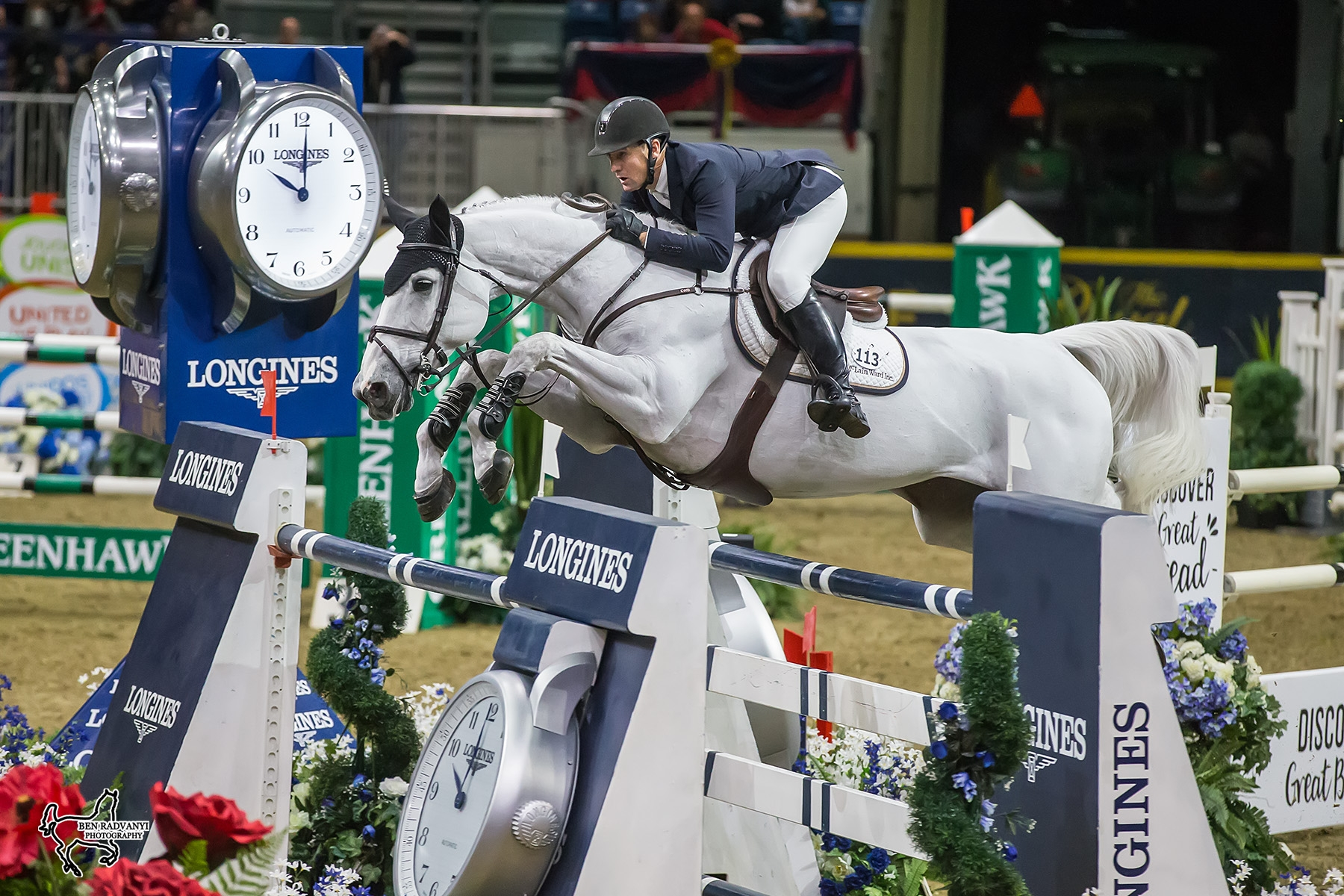 Two-time U.S. Olympic team gold medalist McLain Ward and Malou finished second in the $50,000 Weston Canadian Open at the CSI4*-W Royal Horse Show.<br><b>Photo by <a href='http://benradvanyi.photoshelter.com/#!/index/' target='_blank'>Ben Radvanyi Photography</a></b>