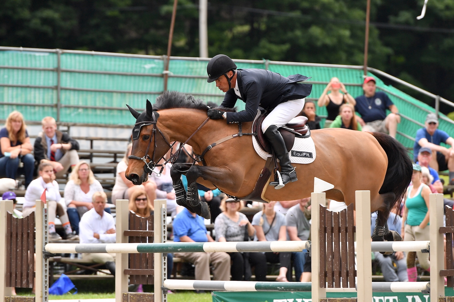 Jimmy Torano won the $30,000 Manchester & The Mountains Grand Prix, presented by Purina Horse Feed, riding Dutch Lady on Saturday, August 5, at the Vermont Summer Festival in East Dorset, VT.<br><b>Photo by <a href='http://www.andrewryback.com/' target='_blank'>Andrew Ryback Photography</a></b>