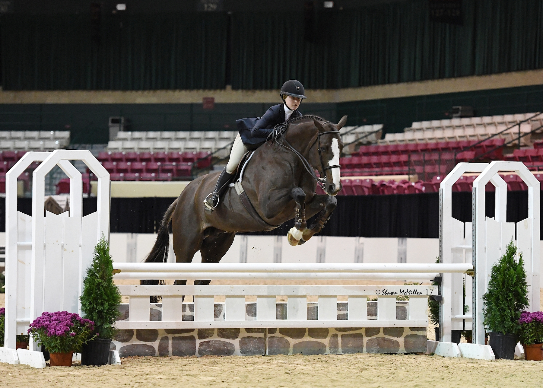 Madeline McManus of Owings Mills, MD, won the 2017 MHSA Gittings Horsemanship Finals riding her own Invesco.<br><b>Photo by <a href='http://www.shawnmcmillen.com/' target='_blank'>Shawn McMillen Photography</a></b>