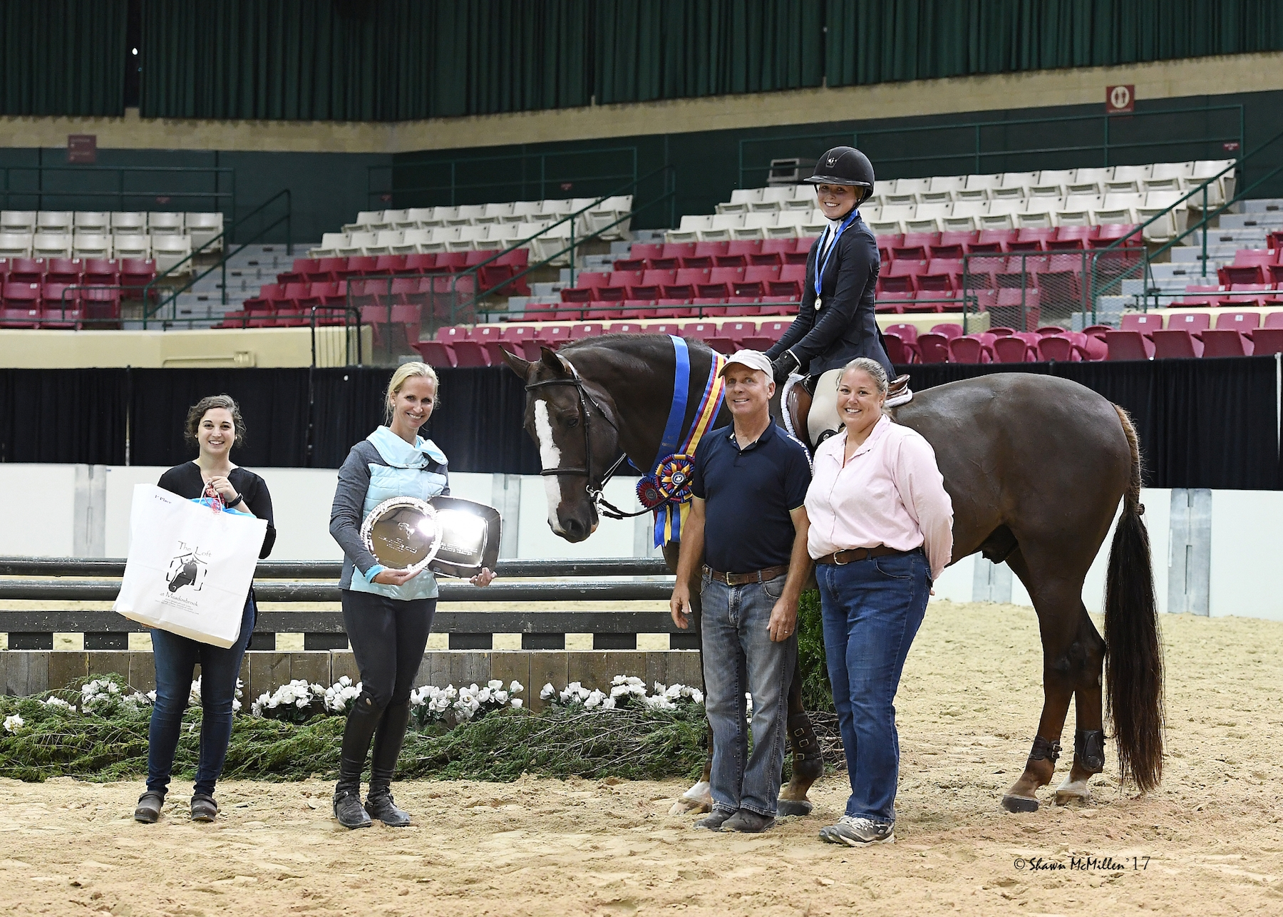 Madeline McManus, aboard Invesco, is presented as winner of the 2017 MHSA Gittings Horsemanship Finals at the 2017 WIHS Regional Horse Show and USHJA Zone 3 Championship, presented by The Linden Group at Morgan Stanley.Madeline McManus, aboard Invesco, is presented as winner of the 2017 MHSA Gittings Horsemanship Finals.<br><b>Photo by <a href='http://www.shawnmcmillen.com/' target='_blank'>Shawn McMillen Photography</a></b>
