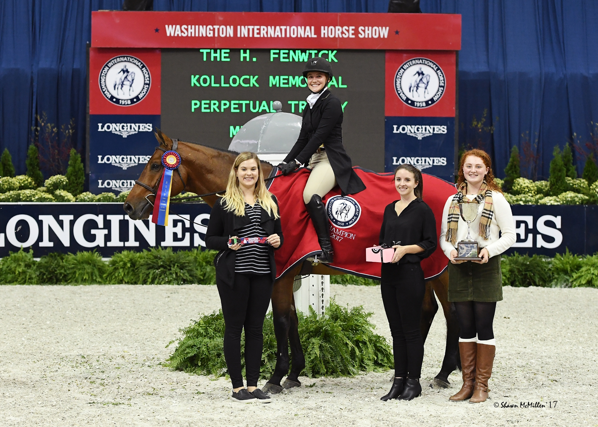 Anna Kubiak rode Memorable to the win in the $10,000 WIHS Children's Hunter Championship. <br><b>Photo by <a href='http://www.shawnmcmillen.com/'target='_blank'>Shawn McMillen Photography</a></b>