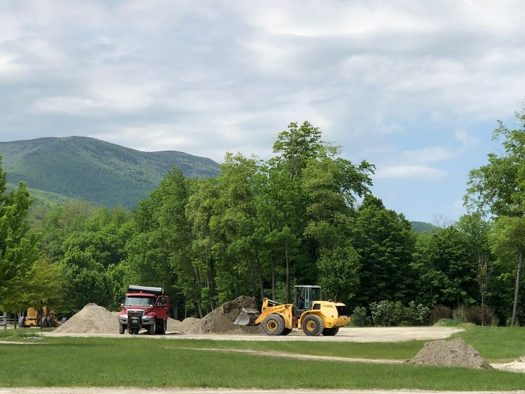 A look at the updated footing being added to in the lunging areas at Harold Beebe Farm in East Dorset, VT, home to the Vermont Summer Festival. Photo courtesy of <a href='https://www.vt-summerfestival.com/'target='_blank'>Vermont Summer Festival</a></b>