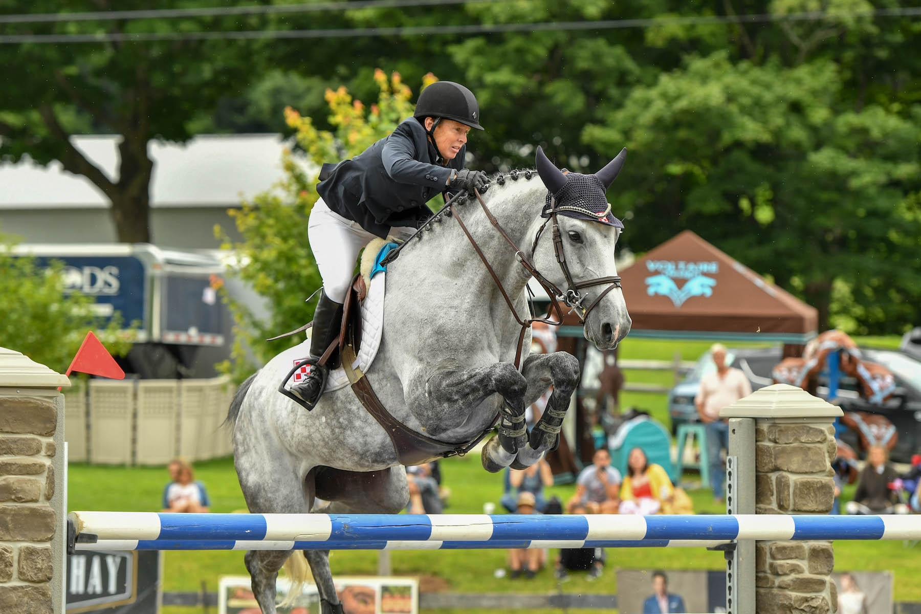 Marylisa Leffler of Brookeville, MD, and Luminous won the $50,000 Vermont Summer Celebration Grand Prix on Saturday, August 11 in East Dorset, VT. <br><b>Photo by <a href='https://www.andrewryback.com/' target='_blank'>Andrew Ryback Photography</a></b>