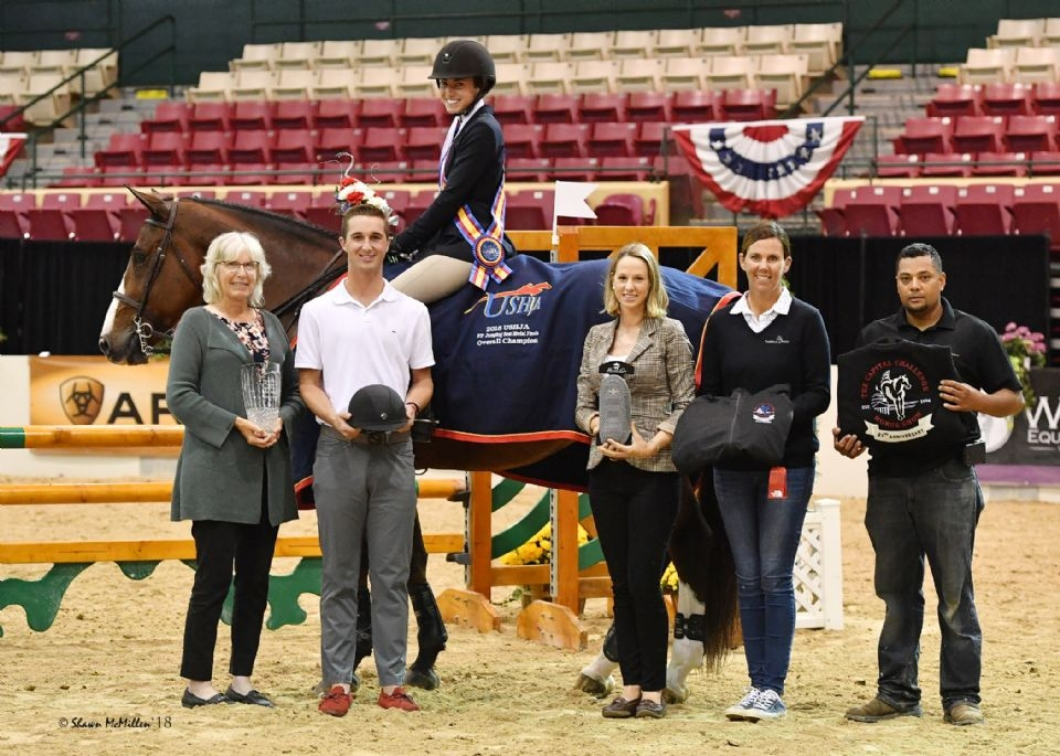 Jessica Stone of West Bloomfield, MI, won the USHJA Jumping Seat Medal Final - East at the 2018 Capital Challenge Horse Show. <br><b>Photo by <a href='http://www.shawnmcmillen.com/' target='_blank'>Shawn McMillen Photography</a></b>