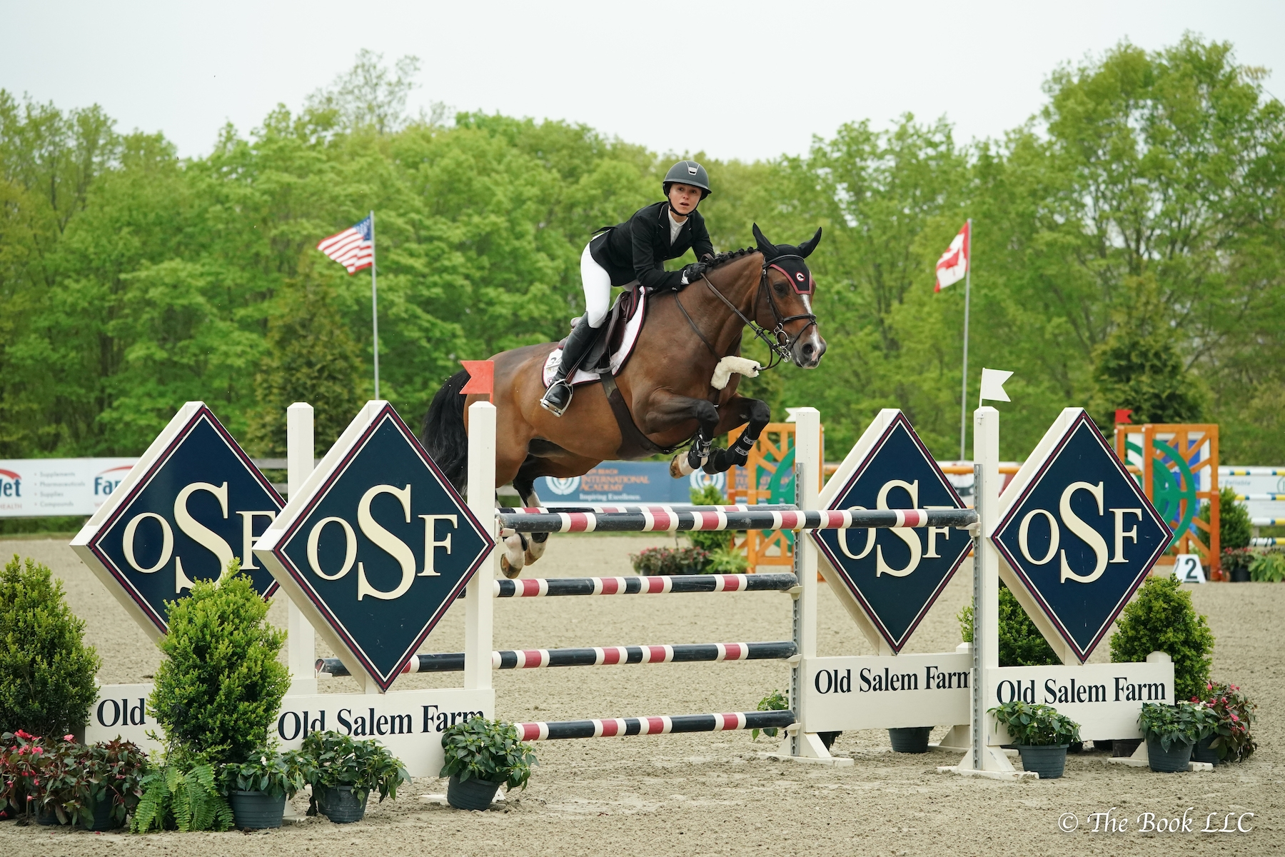 Georgina Bloomberg (USA) and Gotham Enterprizes homebred South Street won the $6,500 Open Jumper 1.35m on Friday, May 10, during the 2019 Old Salem Farm Spring Horse Shows at Old Salem Farm in North Salem, NY.<br><b>Photo by <a href='http://www.thebookllc.com/'target='_blank'>The Book</a></b>