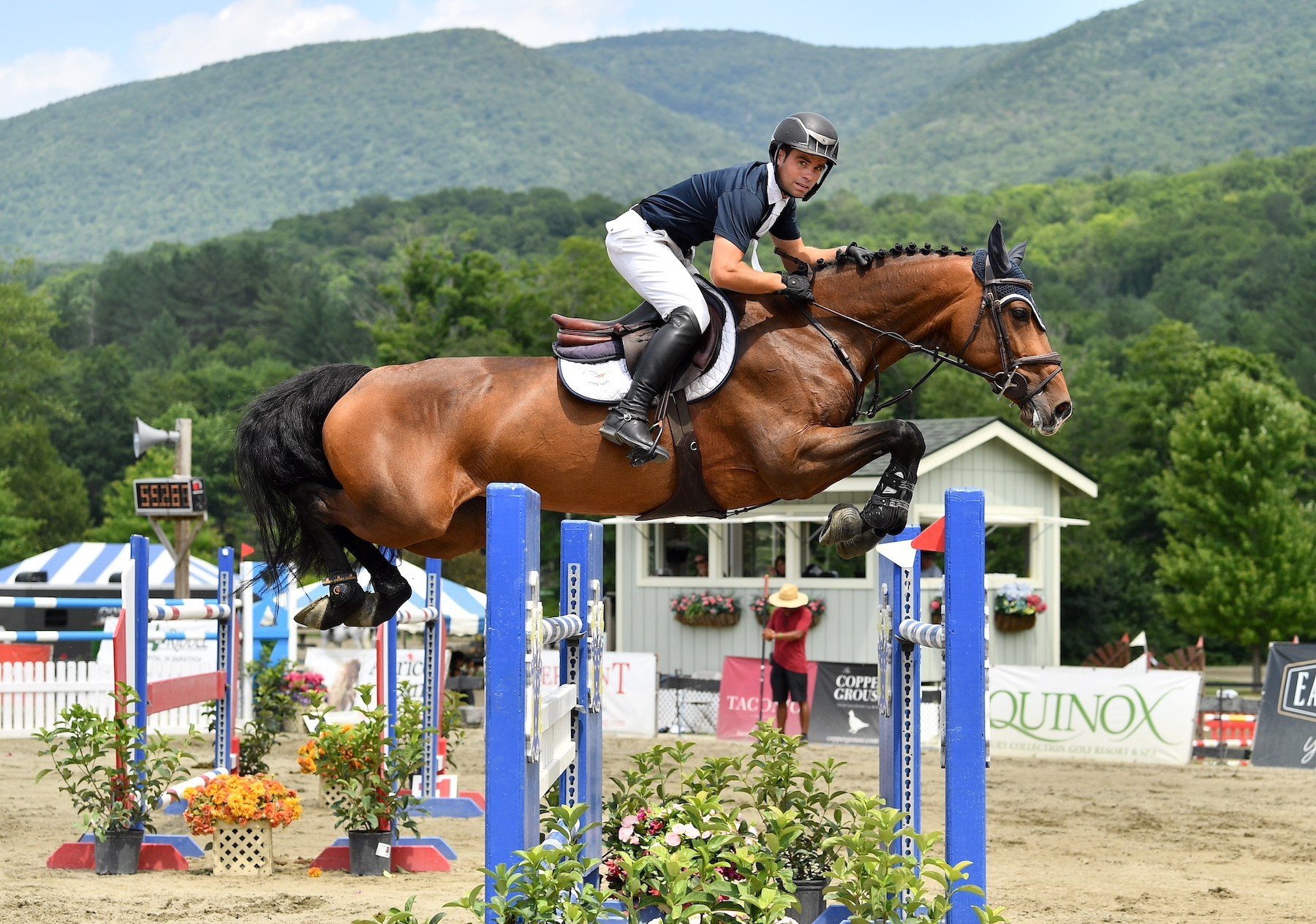 Kevin Mealiff was second in the $30,000 Otter Creek Grand Prix, presented by Purina Horse Feed, riding Nuca 2 at the Vermont Summer Festival on Saturday, July 20, in East Dorset, VT.<br><b>Photo by <a href='https://www.andrewryback.com/' target='_blank'>Andrew Ryback Photography</a></b>