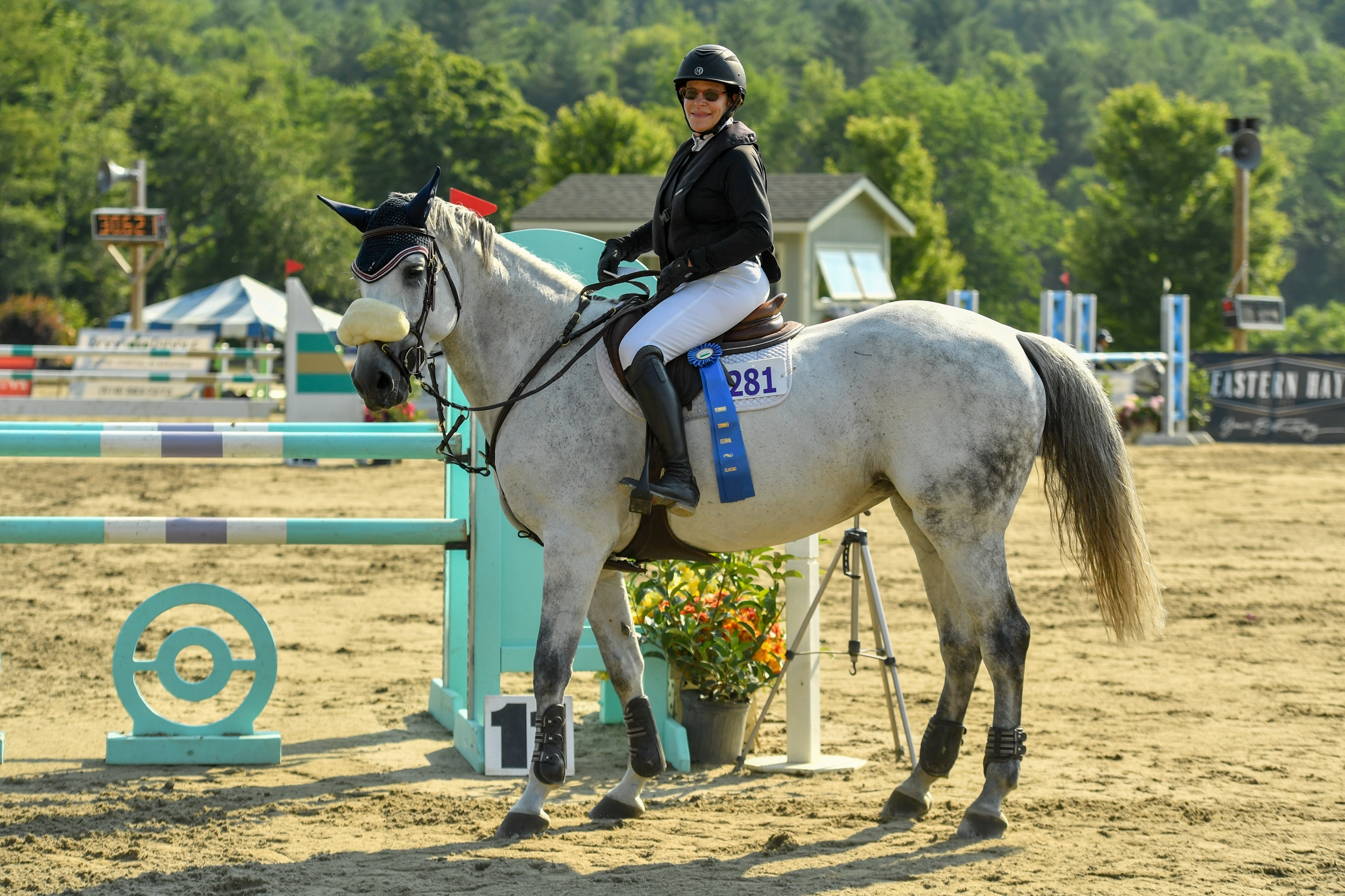 Michelle Stacy of Ipswich, MA, was awarded the first-place honor in the $2,500 Marshall & Sterling Adult Amateur Jumper Classic on Sunday, July 28, at the Vermont Summer Festival, which continues through August 11 at Harold Beebe Farm in East Dorset, VT. <br><b>Photo by <a href='https://www.andrewryback.com/' target='_blank'>Andrew Ryback Photography</a></b>