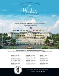 World Equestrian Center – Ocala Unveils 2021 Guide to Winter Spectacular Featuring $9 Million in Prize Money and Prizes Offered